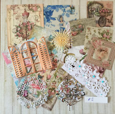Craft clearout mix, card toppers / paper die cuts, bundle joblot vintage bun#2