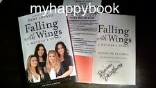 SIGNED Falling with Wings a Mother's Story by Dianna De La Garza, Demi Lovato