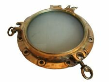 EXTRA LARGE - VINTAGE Marine BRASS PORT HOLE / Window - 100% ORIGINAL(1144)