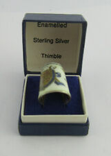 More details for boxed silver & enamel silver jubilee souvenir thimble by js&s, sheffield 1977 #4