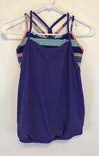 Ivivva Girls Size 10 Double Dutch Tank Top Purple Orange Blue Zig Zag