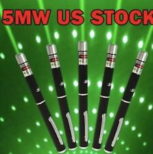 5 PC Powerful Green Laser Pointer Pen Beam Light 5mw Lazer High Power 532nm USA