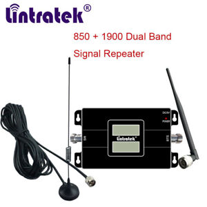 850/1900Mhz CDMA PCS Mobile Signal Amplifier Dual Band 2G 3G B2 Booster for Car