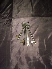 Vintage Set Of 4 Skeleton Keys On Ring #C