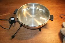 Regal Ware Electric Skillet Immersible Fry Pan w/ Glass Lid