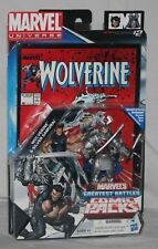 marvel universe comic pack greatest battles wolverine silver samurai 3.75  MOSC