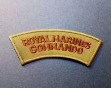 ROYAL MARINES COMMANDO PATCH SEW ON BRITISH NAVY MILITARY JACKET DRILL CAP BADGE