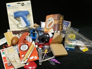 LOT Vintage Sewing Notions Junk Drawer Crafts Cushion Box Button Trims 3+ Pounds