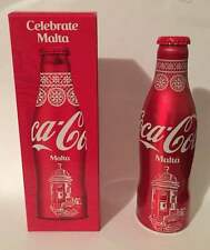01  aluminum coca cola Celebrate Malta full very rare with box