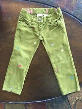 Crewcuts toddler girl Cute Butterflies 🦋 pants size 2 years Corduroy