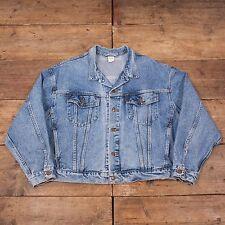 "Vintage pour homme Levis Red Tab 70598 Bleu Denim Trucker Jacket Large 46"" R5686"
