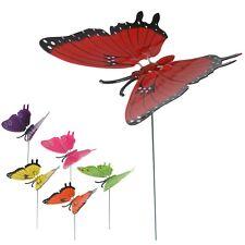 LOT 6 TUTEURS papillon MOBILE ANIMAUX INSOLITE JARDIN PLANTE DECO jeux jouet 824