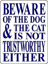 Dog, Cat, Warning Aluminum Sign Dog Decal V3112