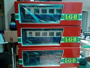 LGB 3097,3098 and 3099 ORIENT PULLMAN 3-Car Set -  EX/Box. LAST SET ONE SOLD.