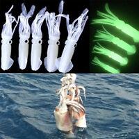 5PCS Agua salada señuelos de pesca pulpo señuelos trastos luminoso cebo
