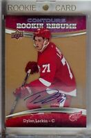 Dylan Larkin 2015-16 UD Contours Rookie Resume Auto Autograph Red Wings #RR-5