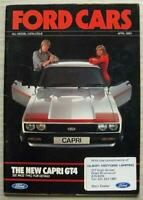 FORD CAR RANGE Sales Brochure Apr 1980 #FA221/56 FIESTA Escort CAPRI RS 2000