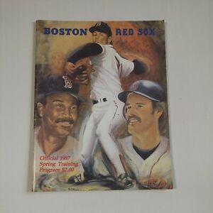 Official 1987 Boston Red Sox Spring Training Program & Scorecard MLB Baseball