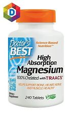 Doctor's Best High Absorption Magnesium Glycinate Lysinate Chelated 240 Tablets
