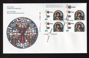 Canada FDC 1997 sc#1672 Christmas Madonna & Child, UL PB