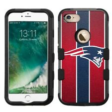 for iPhone 8 Rugged Rubber+Hard Hybrid Case New England Patriots #S