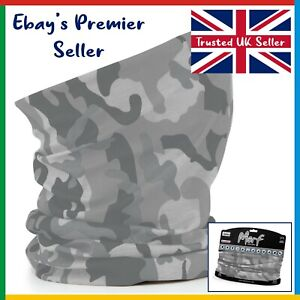ARCTIC CAMO Beechfield - 3 in 1 Face Cover Morf - Snood Scarf - Breathable Mask