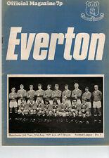 Everton V Manchester United Div 1 1971-2