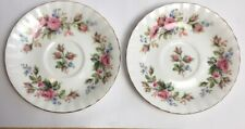 More details for vintage royal albert moss rose saucers none china made in england