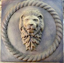 Lions Head Rope Concrete Plaque Molds 2pcs