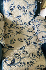 reversible quilted Chair cover Birds Blue Stretch Band Collections Etc
