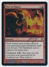 MTG Magic Past in Flames FOIL Innistrad Signed by Artist Anthony Jones NM