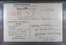 Camp Stalag XIIIC Hammelburg 1941 POW Prisoner Belgium Kriegsgefangenenpost K9a
