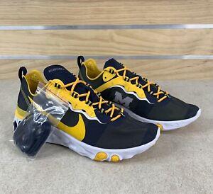 Nike React Element 55 'Michigan Wolverines' Men's Size 12 CK4846-400 Shoe