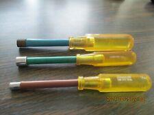 Snap On Usa 3 Pc Yellow Hard Grip Sae Nutdriver Set 1132 38 732
