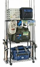 Best Tackle Trolley Rolling Wire Rack Perfect to Store and Organize Fishing Gear