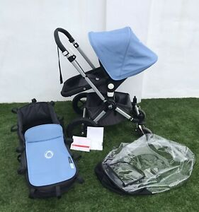 ** Bugaboo Cameleon Charcoal Grey And Powder Blue** Extendable Hood!