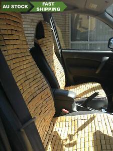 2 pieces bamboo car seat cover front seats bamboo brick car seat mat cool 竹车垫