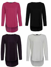 Polyester Crew Neck Patternless Other Women's Tops