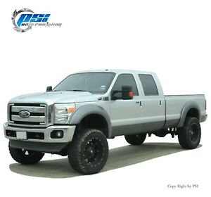 Extension Style Fender Flares Fits Ford F-250, F-350 Super Duty 11-16 Paintable
