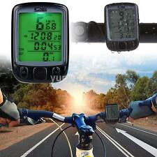 Digtal Speedometer Odometer LCD Waterproof Bike Bicycle Cycling Computer Black