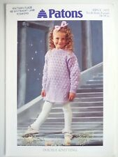 "Teddy 675 Vintage Girls Knitting Pattern Cardigan Bootees Blanket 14-20/"""