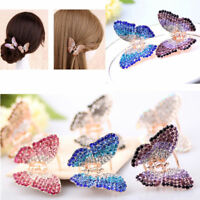 Lady Girl's Butterfly Claw Crystal Rhinestone Hair Clip Clamp Hairpin Jewelry