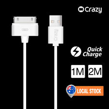 CRAZY USB Charger Data Sync Cable for iPhone 4 4S iPod Nano 6 5 Touch iPad 2 3