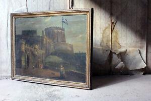 Antique Oil on Panel of Windsor Castle; Horton Lodge, Windsor, Berkshire c.1770