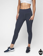 ATHLETA All In 7/8 Tight Leggings S SMALL Navy | Running Workout w Pockets NWT-D