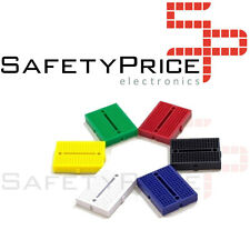 5x MINI BREADBOARD 170 PUNTI 5 COLORI linkable protoboard Arduino raspberry