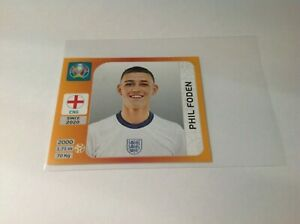 Panini Euro 2020 Tournament Edition  PHIL FODEN NO 412  Rookie spain