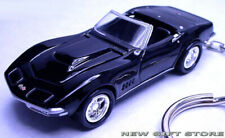 RARE KEY CHAIN BLACK 1968/1969 CHEVY CORVETTE C3 CONVERTIBLE NEW LIMITED EDITION