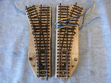 02 Märklin Metallgleis elektrisches Weichenpaar 5221 Radius 2, geprüft