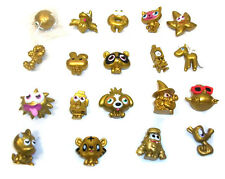 Moshi Monsters Job Lot of  Rare Gold figures toy set lot